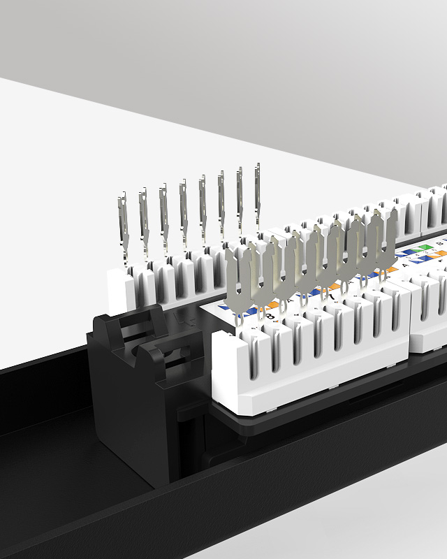 1U16口-防尘网络配线架