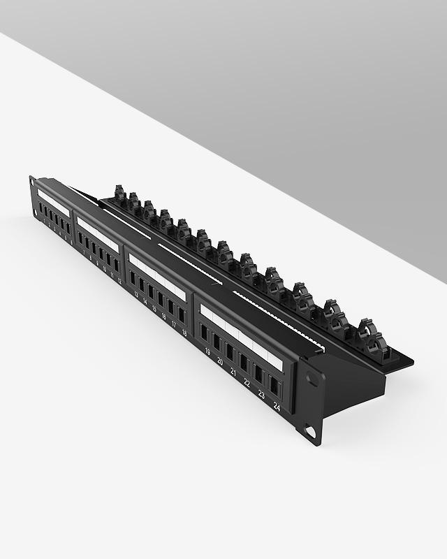 1U24口-防尘网络配线架
