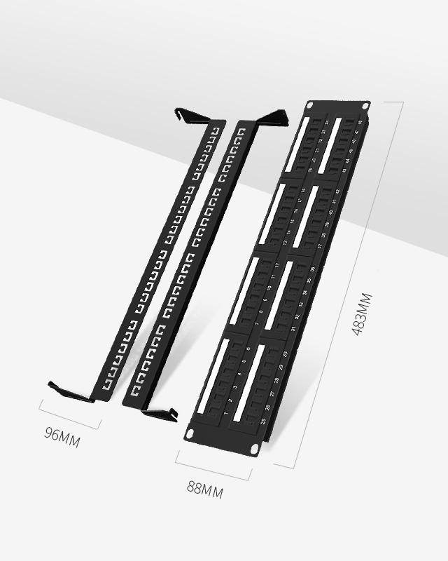 2U48口-防尘网络配线架